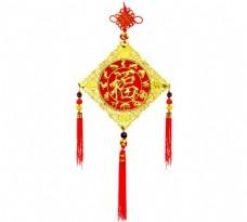 手绘福字中国结元素