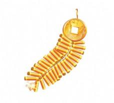 手绘金币鞭炮元素