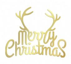 手绘圣诞字母元素