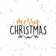 手写英文圣诞节创意文字设计矢量