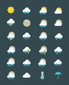 简单好看的天气图标