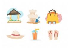 沙滩度假图标素材