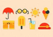 夏天图标素材