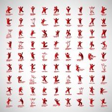 运动人物角色图标素材