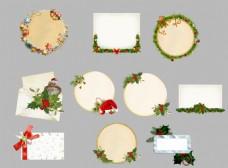 圣诞边框标签节日