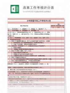 乡财县管改革工作考核评分表excel模板