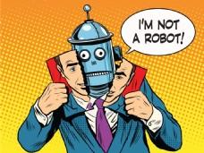 卡通机器人漫画风格人物矢量素材