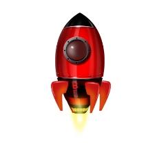 卡通质感红色火箭