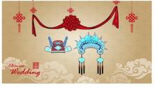 卡通婚礼海报矢量素材