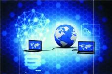 蓝色互联网背景