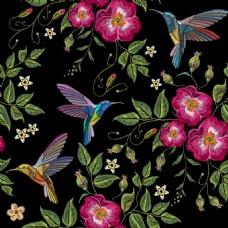 中国传统刺绣背景底纹