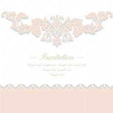 粉色波纹蕾丝复古典雅矢量纹理背景