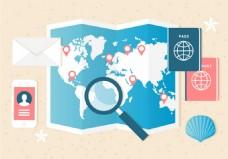 旅游地图素材