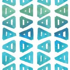 蓝色三角形图案包装背景矢量设计素材合集
