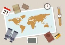 旅游攻略矢量素材