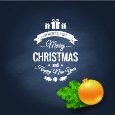 圣诞节海报黑板背景装饰元素