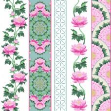 中国风牡丹花朵背景矢量合集