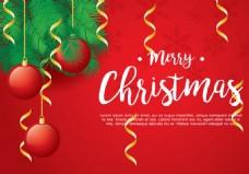 圣诞红色矢量素材