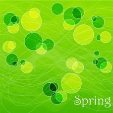 春天绿色矢量背景素材