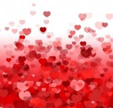 情人节红色爱心背景