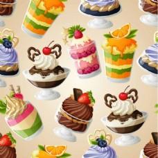 美味的冰淇淋背景