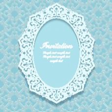 婚礼蕾丝背景复古典雅矢量纹理背景
