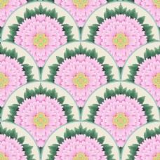 圆形花朵背景牡丹花图形花纹VI设计矢量