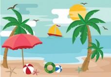 夏天沙滩素材