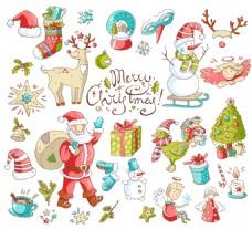 装饰元素卡通圣诞节矢量背景元素