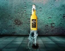 啤酒海报背景设计