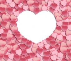 爱心花瓣图案