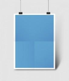 蓝色照片纸素材