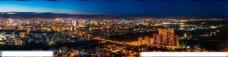 俯瞰繁华城市夜景