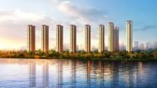 超高层住宅建筑效果图