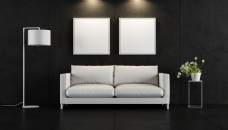 现代时尚客厅家装效果图