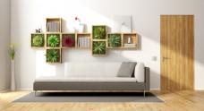 现代淡雅温馨风格客厅家装效果图