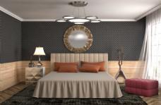 别墅卧室奢华室内效果图