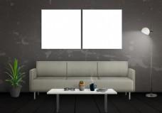 简约欧式风格客厅效果图