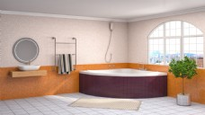 酒店卫浴效果图图片