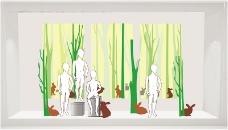 绿色森林系春季橱窗