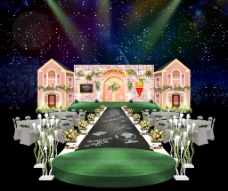 校园风婚礼舞台效果图