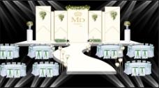 香槟色婚礼舞台背景