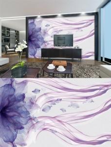 紫色花朵背景墙