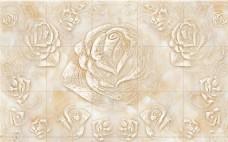 大理石玫瑰背景墙