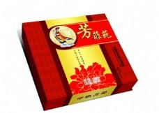 芳菲苑月饼礼盒平面展开图