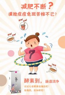 减肥排毒促销海报
