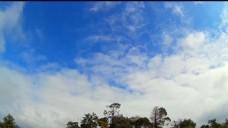 晴朗的天空风景视频素材