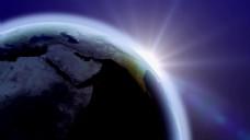 地球光晕视频素材