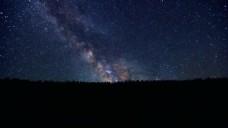 夜晚星空视频素材