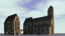 城堡视频建筑素材